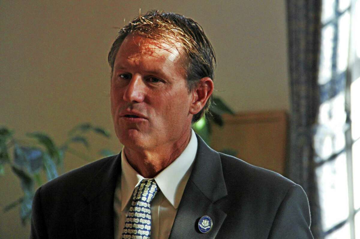 State Sen. Kevin Witkos, R-8, during a legislative forum at Prime Time House Tuesday in Torrington.
