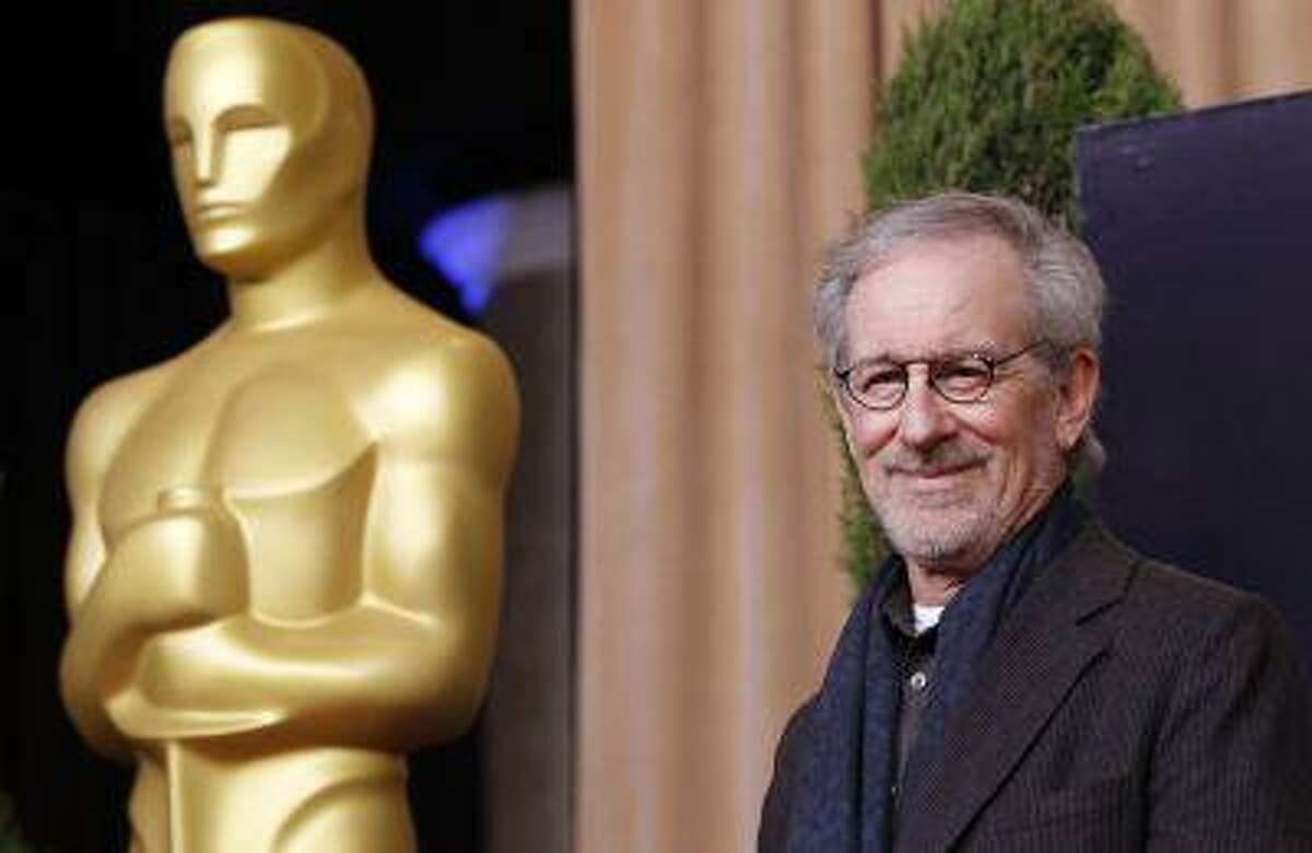 """Director Steven Spielberg, nominated for best picture and best director for """"Lincoln"""", arrives at the 85th Academy Awards nominees luncheon in Beverly Hills, California February 4, 2013. REUTERS/Mario Anzuoni (UNITED STATES - Tags: ENTERTAINMENT)"""