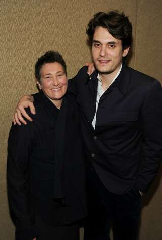 NEW YORK - JUNE 17: kd Lang and John Mayer  attend the 41st Annual Songwriters Hall of Fame Ceremony at The New York Marriott Marquis on June 17, 2010 in New York City.  (Photo by Larry Busacca/Getty Images for Songwriter's Hall of Fame) *** Local Caption *** kd Lang;John Mayer Photo: Larry Busacca, Getty Images For Songwriter's Ha / 2010 Getty Images