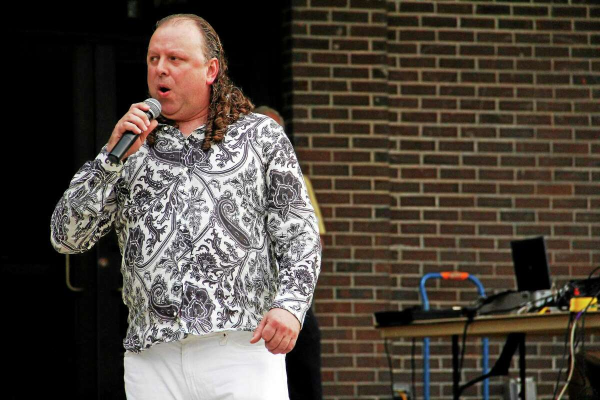 Fred Boland sings during the Northwest Idol competition on Saturday, June 28, 2014, at Coe Memorial Park in Torrington. Esteban L. Hernandez Register Citizen