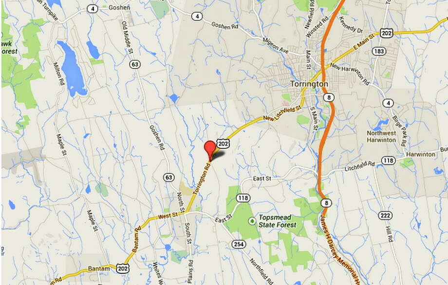 A map of the location of the Fernwood Rest Home in Litchfield Photo: Journal Register Co.