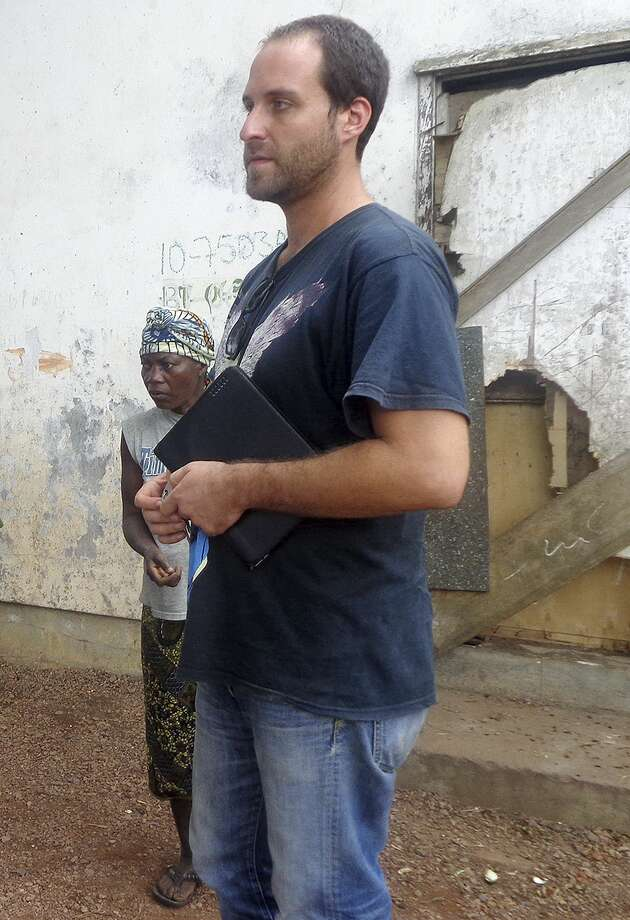 FILE - In this August 2013 file photo is American video journalist Ashoka Mukpo at an iron ore mining camp in Bong County, Liberia. Hospital officials in Omaha, Neb., where Mukop was treated for the Ebola virus he contracted while working in Liberia, said Wednesday, Oct. 22, 2014, that he has recovered and left the hospital. (AP Photo/The Providence Journal, Philip Marcelo) MANDATORY CREDIT. RHODE ISLAND OUT. NO SALES. Photo: AP / The Providence Journal