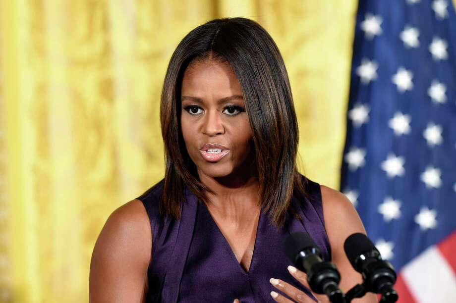 In this Sept. 30 file photo, First Lady Michelle Obama speaks at a luncheon in the East Room of the White House. Photo: Associated Press  / AP