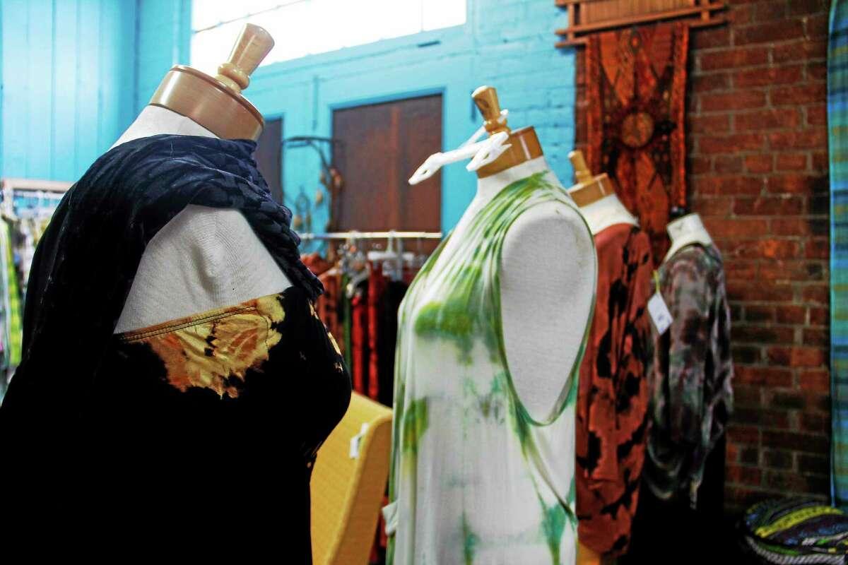 Several dresses created by Doreen Breen featured inside her studio on Saturday, June 28, 2014, in Torrington. Esteban L. Hernandez Register Citizen Esteban L. Hernandez Register Citizen