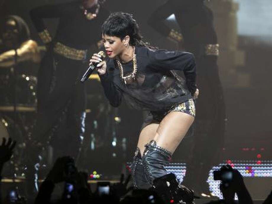 Rihanna performs in Perth, Australia during the first concert of the Australian leg of her Diamonds World Tour. (AP Photo/Lee Griffith, File) Photo: AP / AP