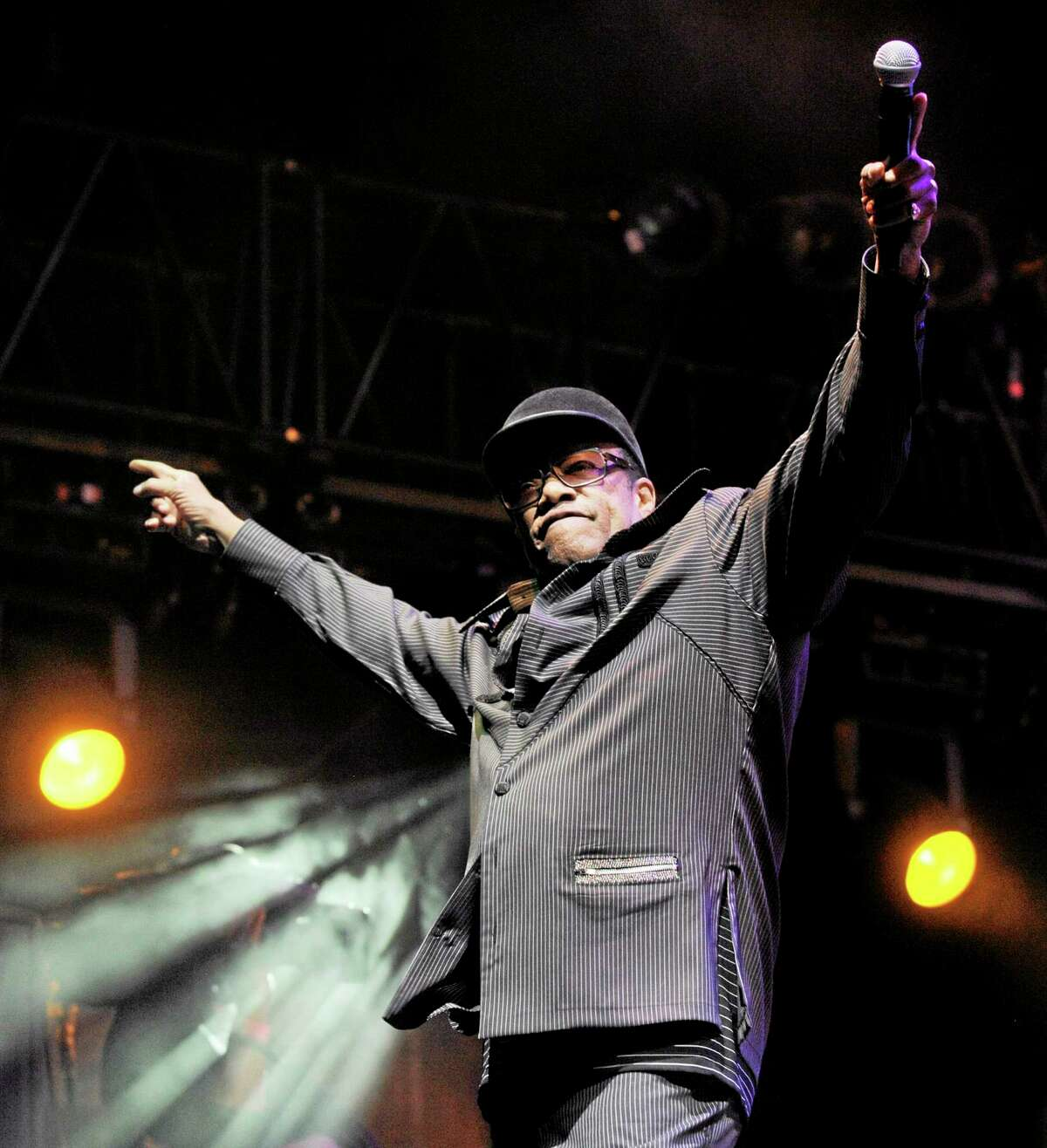 FILE - In this April 18, 2010 file photo, singer Bobby Womack performs with Gorillaz on the final day of the Coachella Valley Music and Arts Festival in Indio, Calif. Womack, 70, a colorful and highly influential R&B singer-songwriter who impacted artists from the Rolling Stones to Damon Albarn, has died. Womack's publicist Sonya Kolowrat confirmed to The Associated Press on Friday, June 27, 2014, that the singer died but had no other details to provide. (AP Photo/Chris Pizzello, file)