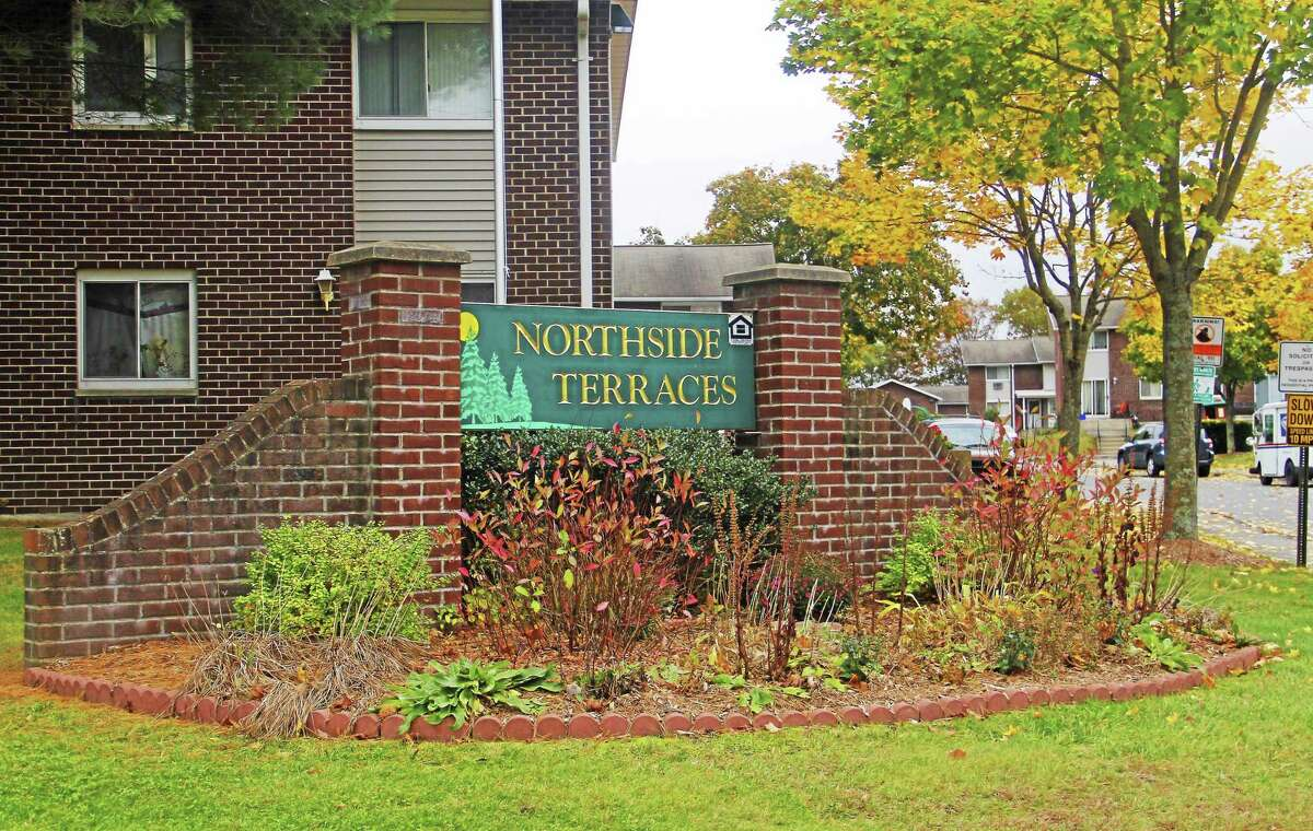 Outside Northside Terraces Apartments on Wednesday in Torrington.