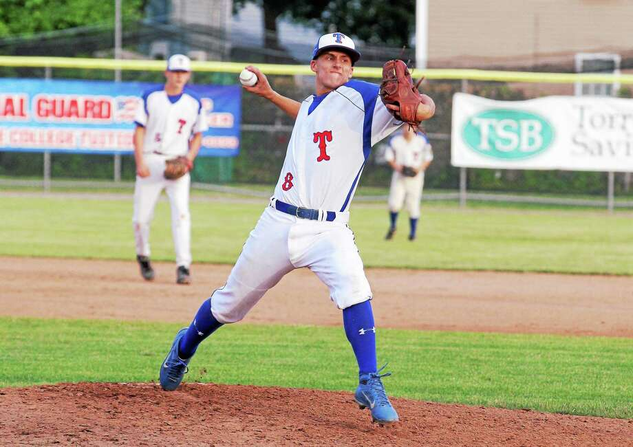 Torrington starting pitcher Evan Shortsleeve winds up against Southington Friday evening. The P38s won 2-0. Photo: Marianne Killackey — Special To Register Citizen  / 2014