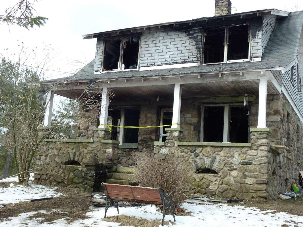 Twenty Four Bumper Road fire in Harwinton. RYAN FLYNN/Register Citizen.