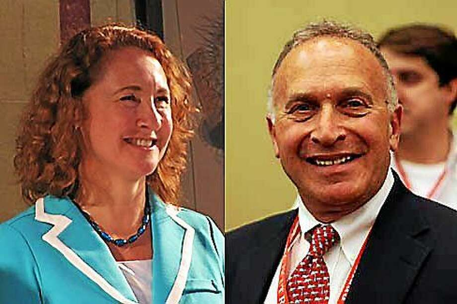 U.S. Rep. Elizabeth Esty and Republican Mark Greenberg. CT News Junkie file photos Photo: Journal Register Co.