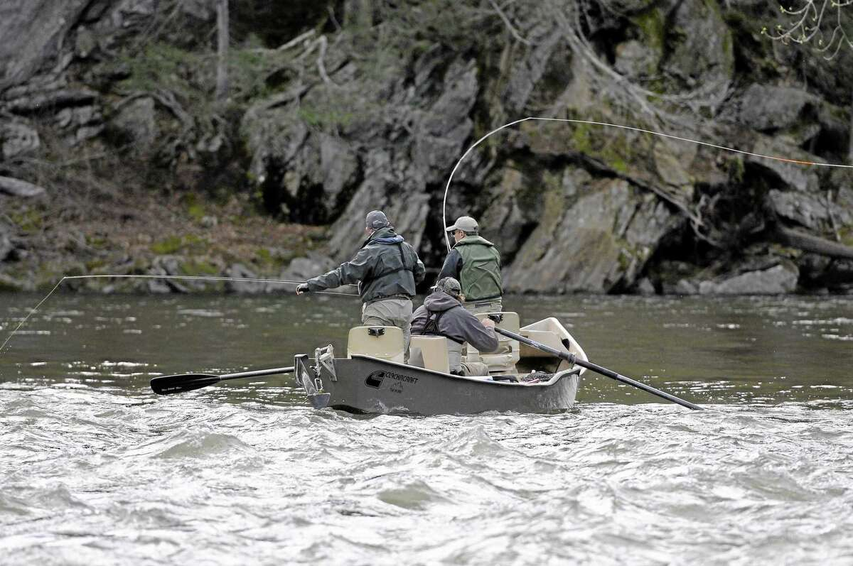 On the opening day of fishing season in April 2013, anglers were out on the Housatonic River in Cornwall.