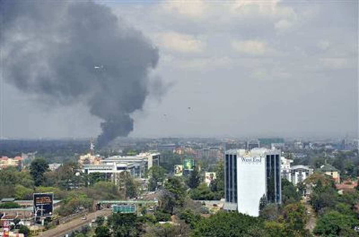 Black smoke billows above the Westgate Mall in Nairobi, Kenya, while under attack by a Somali terrorist group last month. Authorities are investigating if two Somali men killed in an accidental detonation in Ethiopia are affiliated with the same group.