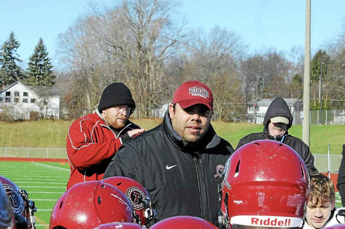Torrington head coach Gaitan Rodriguez is an assistant coach on Team Nutmeg.