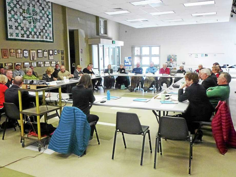 The 20-member Northwest Hills Council of Governments met in person for the first time Thursday at UCONN's Torrington campus. Photo: Ryan Flynn — Register Citizen