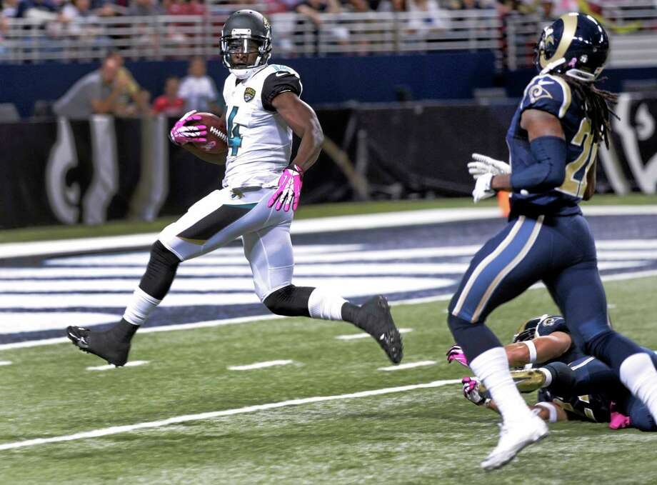 The Register's Dan Nowak believes having receiver Justin Blackmon back will help the Jaguars cover the record point spread against the Broncos on Sunday. Photo: Tom Gannam — The Associated Press  / FR45452 AP