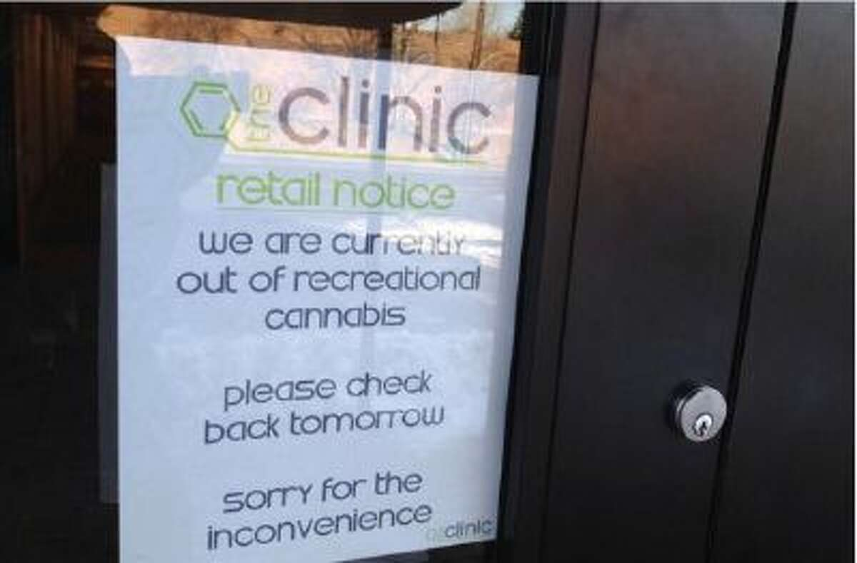 One recreational marijuana store in Denver sold out of pot, Wednesday, Jan. 8, 2014.