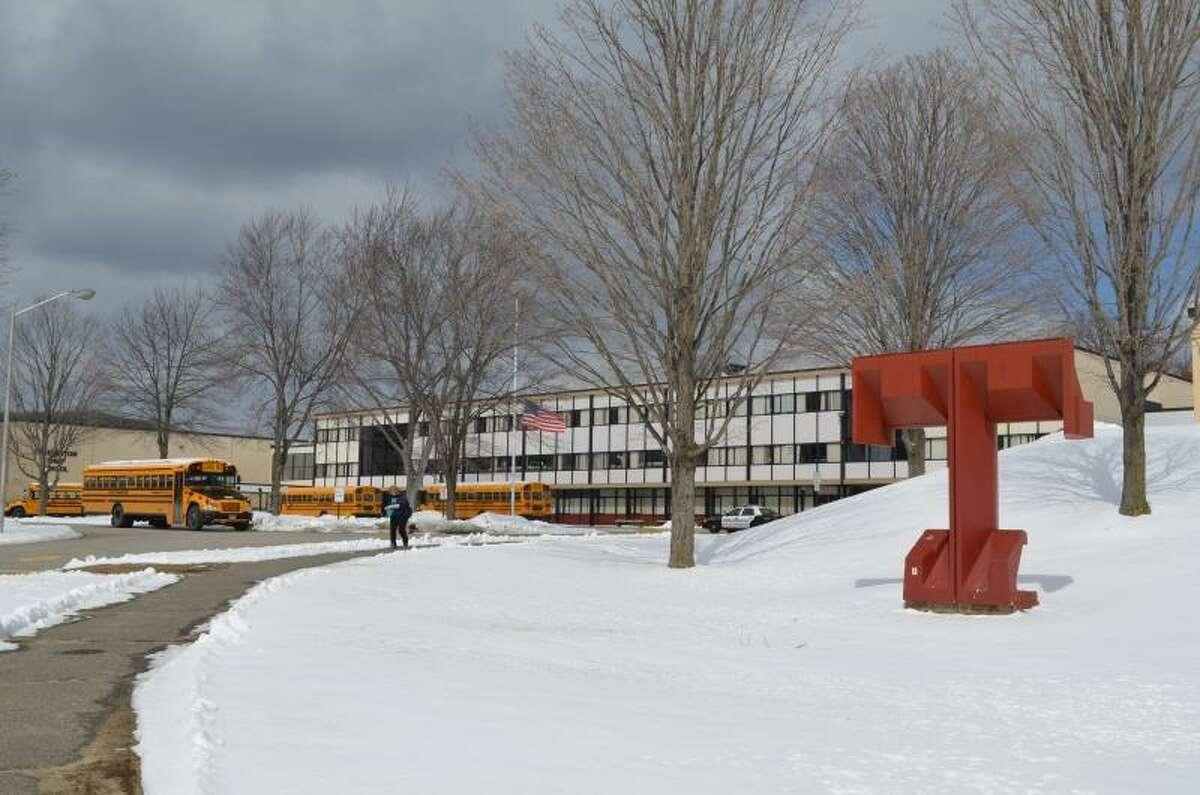 Photo by Kate Hartman/Register Citizen -- Torrington High School as seen on March 20, 2013.