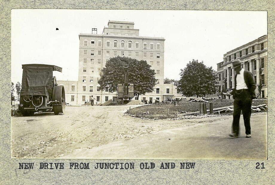 Outside Charlotte Hungerford Hospital in Torrington. Photo: Photo Courtesy Of The Torrington Historical Society