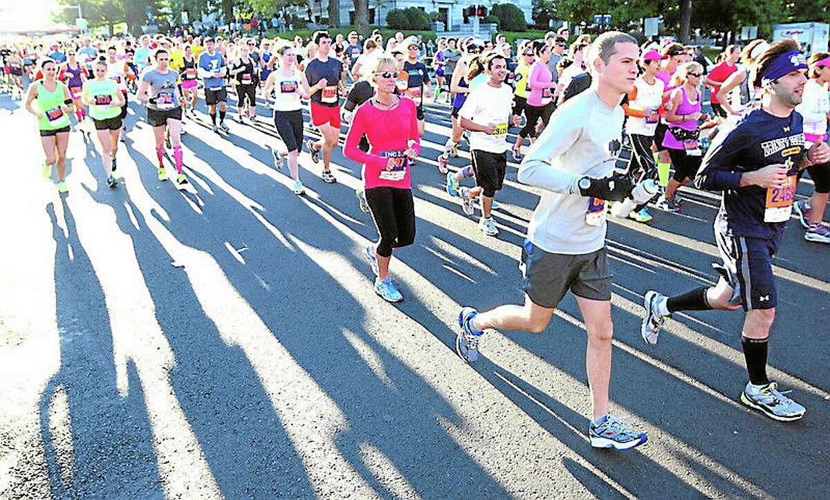The Hartford Marathon and Half Marathon on 10/122013. Photo by Arnold Gold/New Haven Register