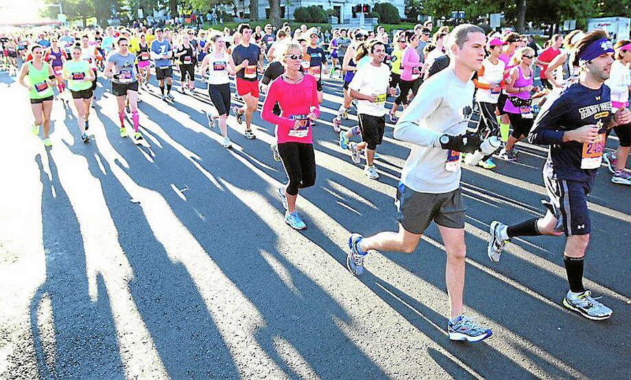 The Hartford Marathon and Half Marathon on 10/122013.  Photo by Arnold Gold/New Haven Register Photo: Journal Register Co.