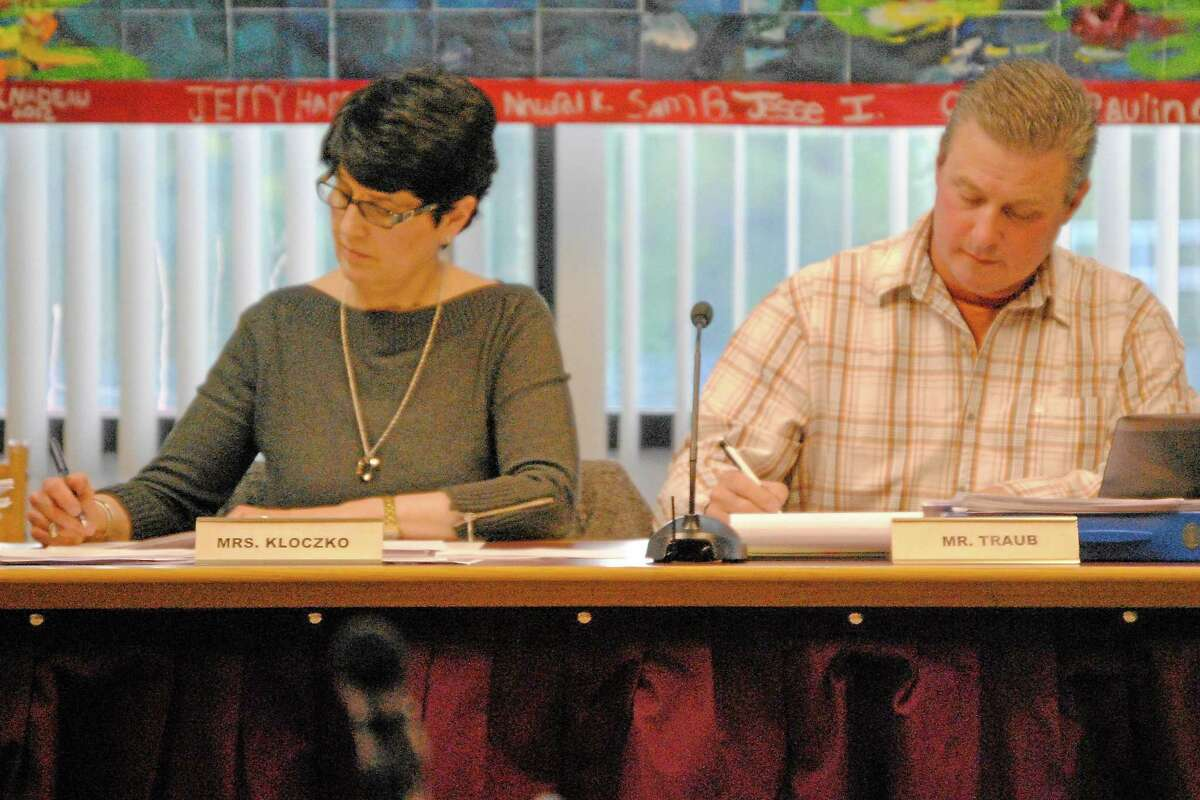 Torrington Board of Education officials during a public meeting.