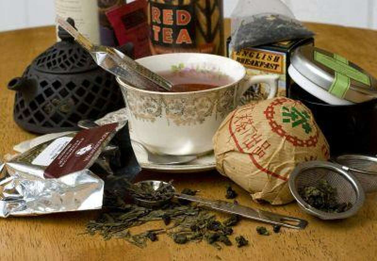 A variety of specialty teas are shown. Fueled by news of tea's health benefits and riding the coattails of the coffee industry, specialty teas have seen a rise in popularity.