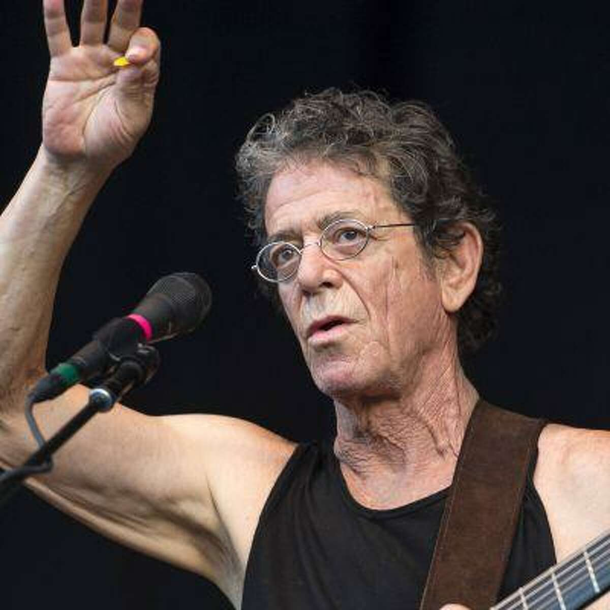 Lou Reed performing live at 'Filmnaechte am Elbufer' event series. Dresden, Germany - 30.06.2012 Credit: WENN.com