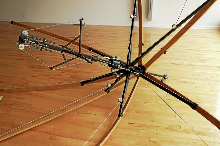 A sculpture by Michael Donovan in the new art show at Five Points Gallery. Photo: Shako Liu — The Register Citizen