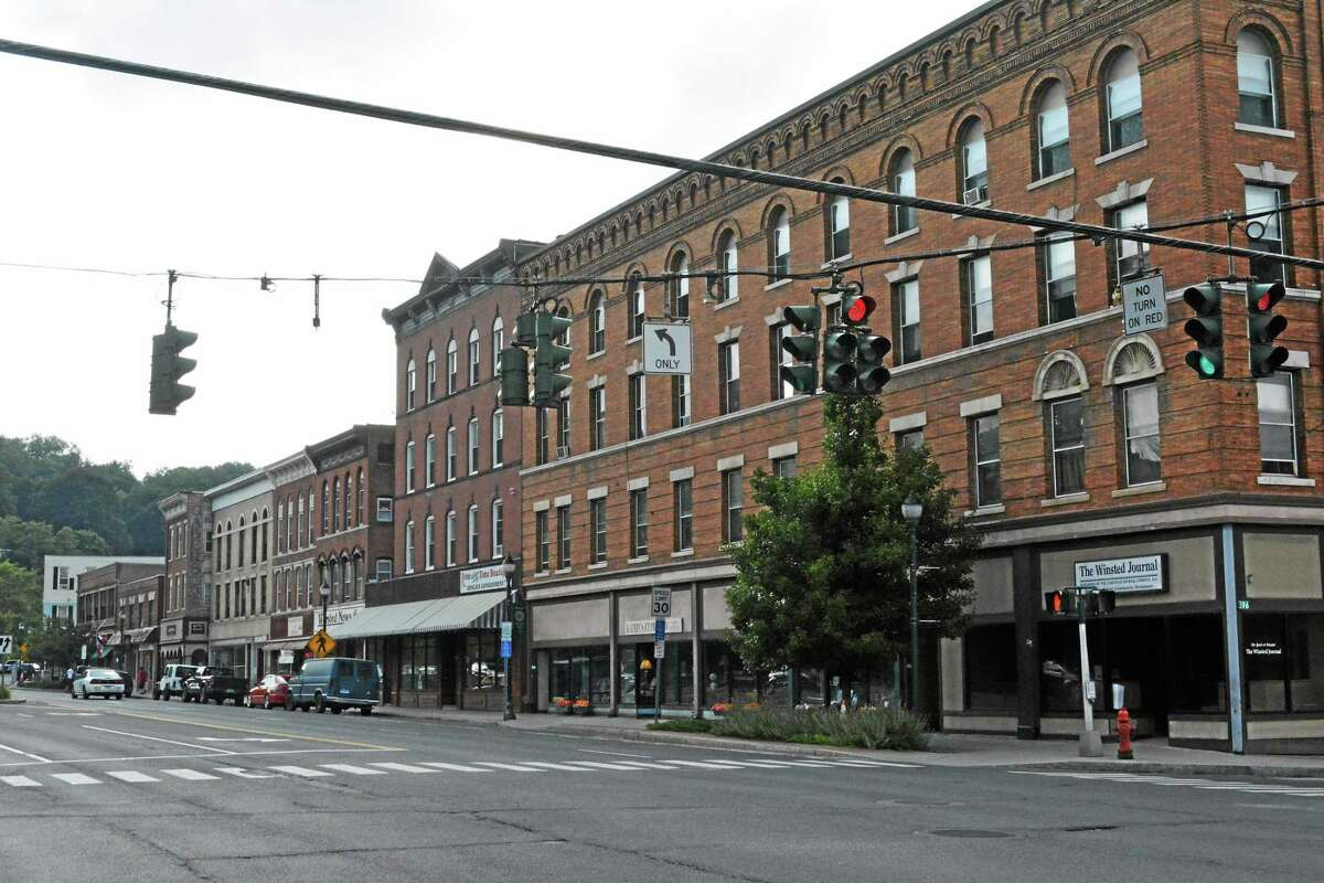Many of Winsted's local businesses are located along the Main Street corridor.