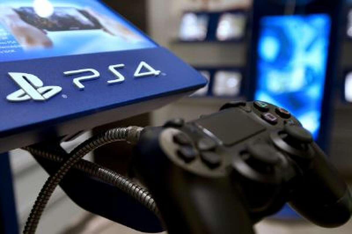 This Nov. 29, 2013, picture taken in a Parisian store shows the joystick of the new Sony Playstation 4 video game console.