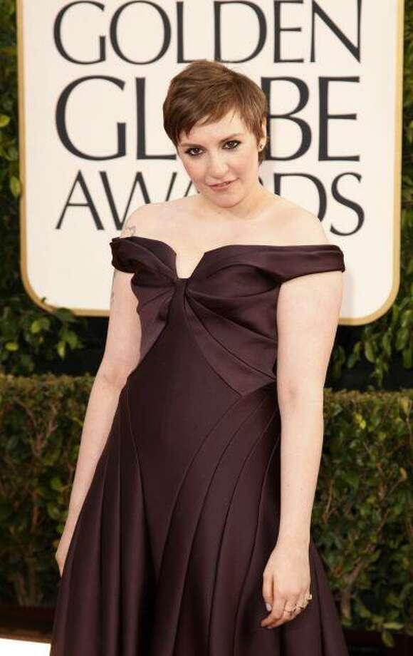 """Actress Lena Dunham of the TV series """"Girls"""" at the 70th annual Golden Globe Awards in Beverly Hills, Calif. (Reuters/Jason Redmond) Photo: REUTERS / X02204"""