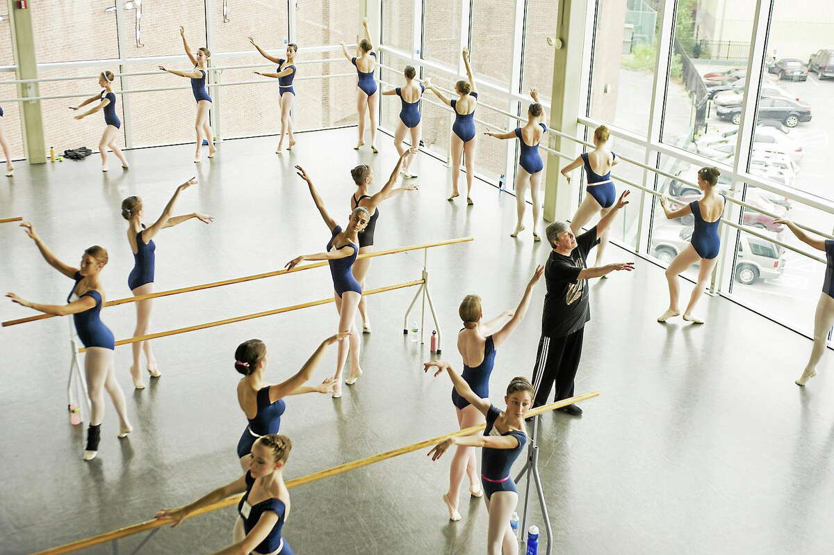 Submitted photo - Nutmeg Conservatory Students prepare to audition at the Nutmeg Conservatory of Dance.