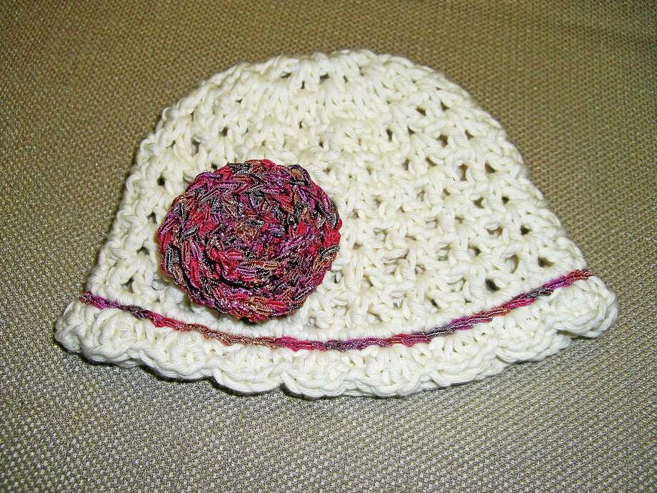 Submitted photo - Ginger Balch At a knit-along this Sunday in Newtown, knitters and crocheters will make hats to donate to local hospitals. Photo: Journal Register Co.