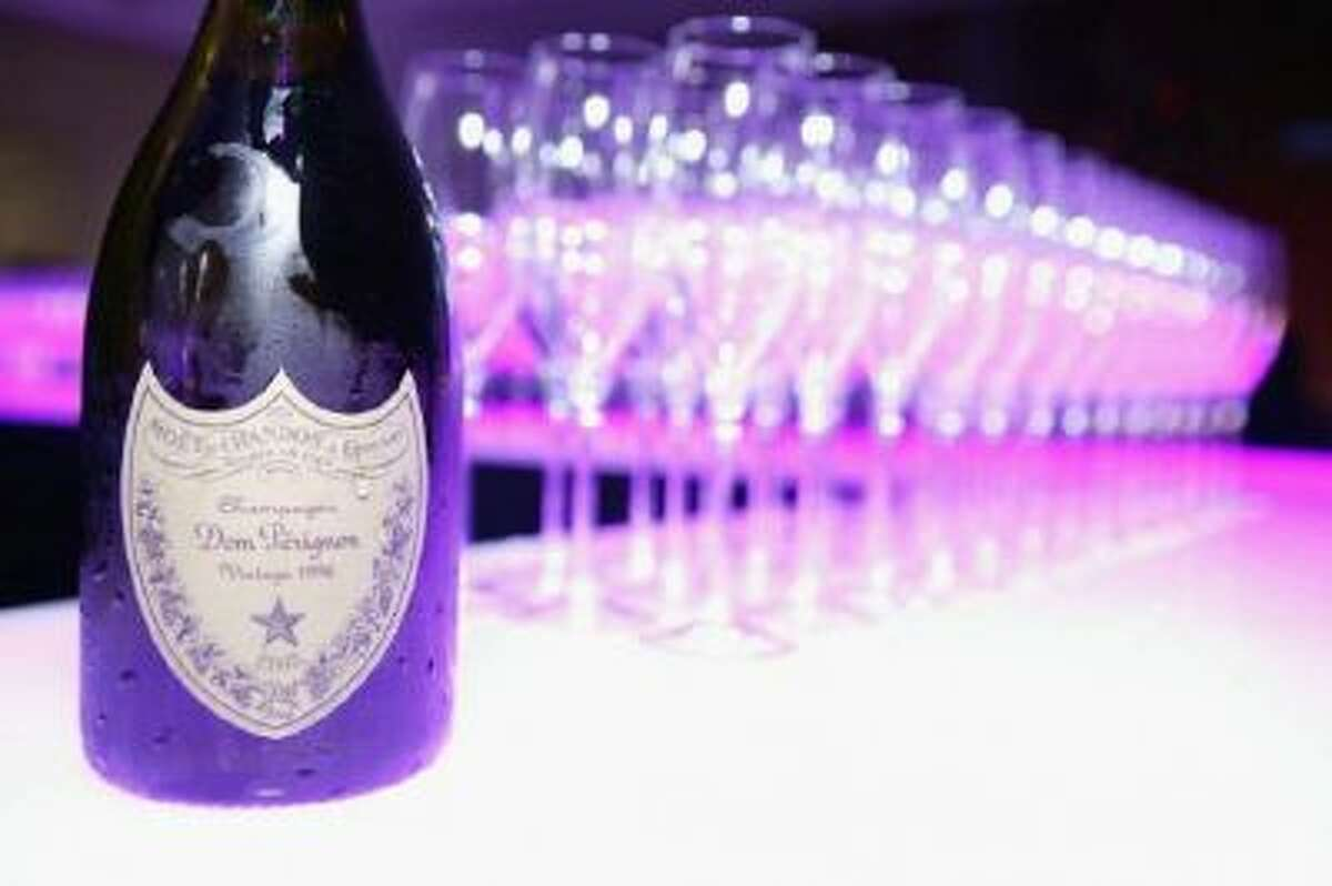 Dom Perignon bottles.