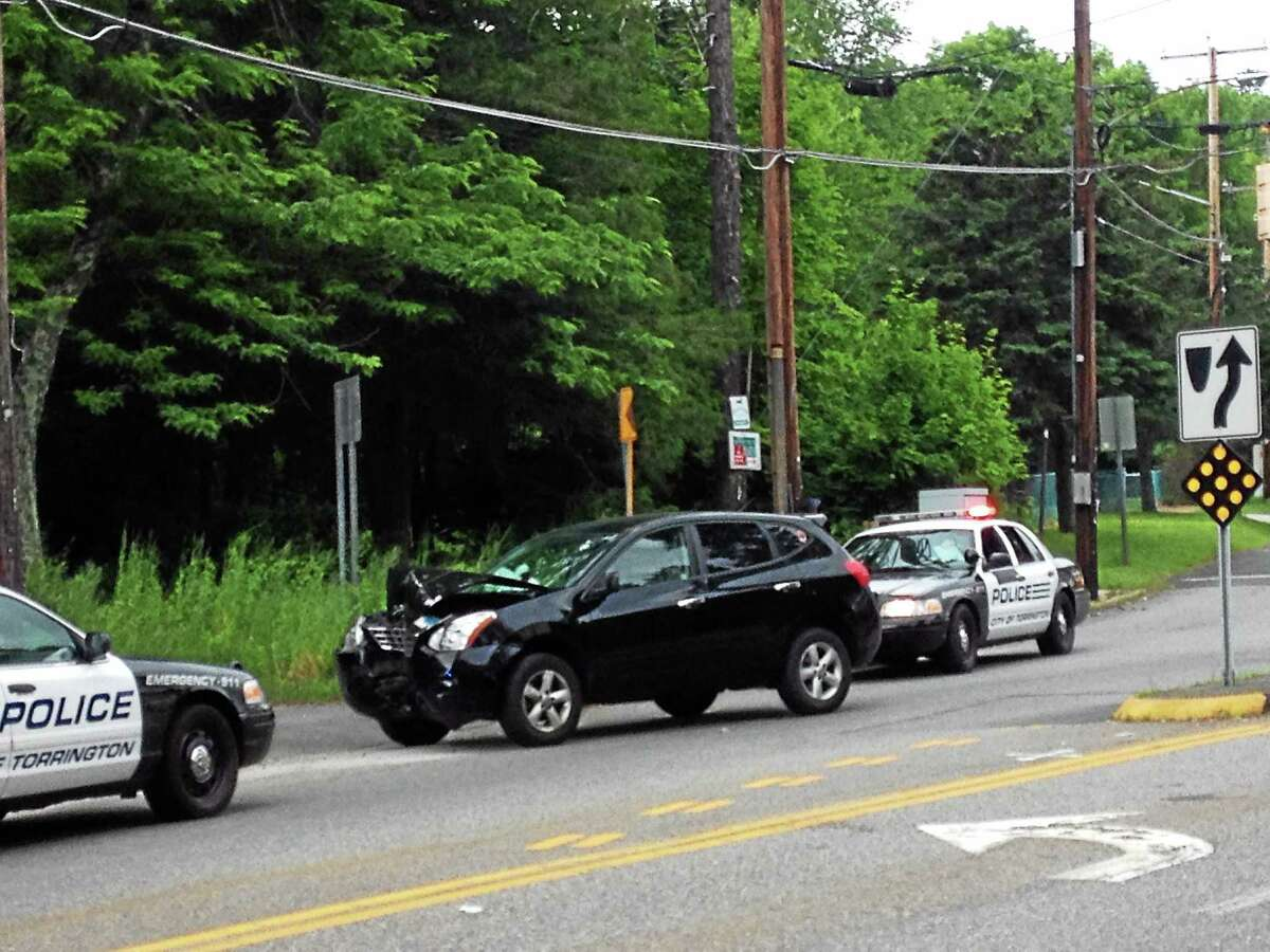 A one-vehicle accident at the intersection of Main Street, Winsted Road and Newfield Road slowed traffic in Torrington briefly Tuesday afternoon around 2:15 p.m.