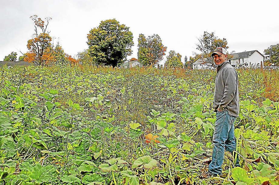 Joe Ruwet at the Ruwet Berry Scary Acres Pumpkinville in Torrington. Photo: Photos By Morgan Skovich — Register Citizen