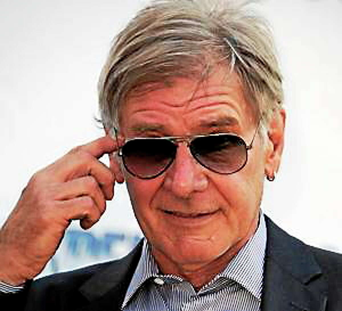 Harrison Ford during a photo call for The Expendables 3 at the 67th international film festival, Cannes, southern France, Sunday, May 18, 2014.