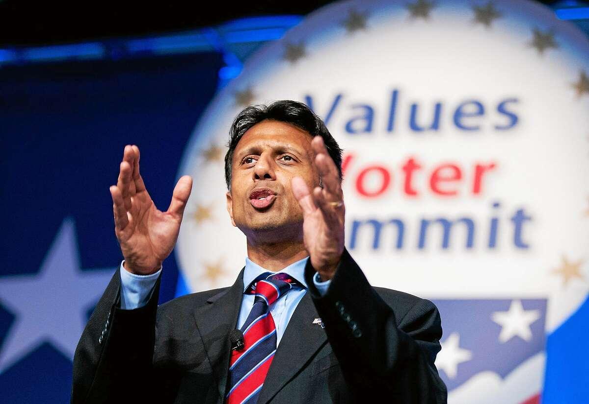 Louisiana Gov. Bobby Jindal, R-La., speaks at the 2014 Values Voter Summit in Washington on Sept. 26, 2014.