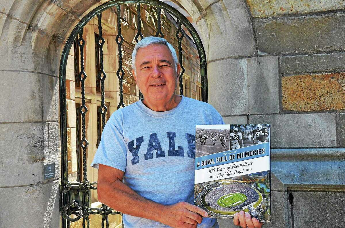 """Rich Marazzi was 5 years old when he attended his first football game at Yale Bowl. Sixty-five years later, the Ansonia native finished writing """"A Bowl Full of Memories."""""""