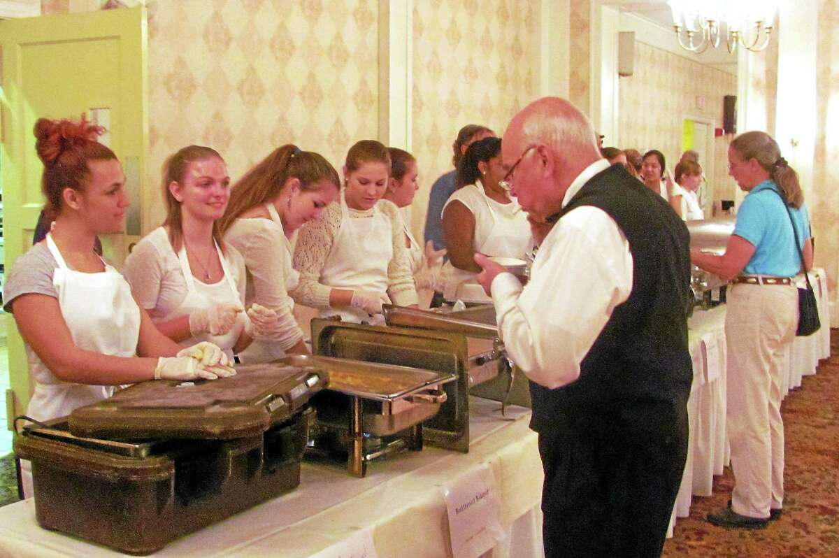 """The Torrington Elks Lodge hosted the fifth annual """"Empty Bowls"""" fundraiser on Wednesday, Oct. 15 to benefit The Community Soup Kitchen of Torrington."""