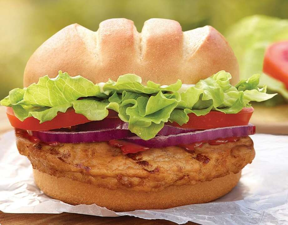 This product image released by Burger King shows the fast food restaurant's new Turkey Burger. Burger King says it's introducing a turkey burger for the first time. The burger will be part of its limited-time offers for the spring. McDonald's and Wendy's say they've never offered a turkey burger, although regional chains Carl's Jr. and Hardee's rolled them out in 2010. (AP Photo/Burger King) Photo: AP / Burger King