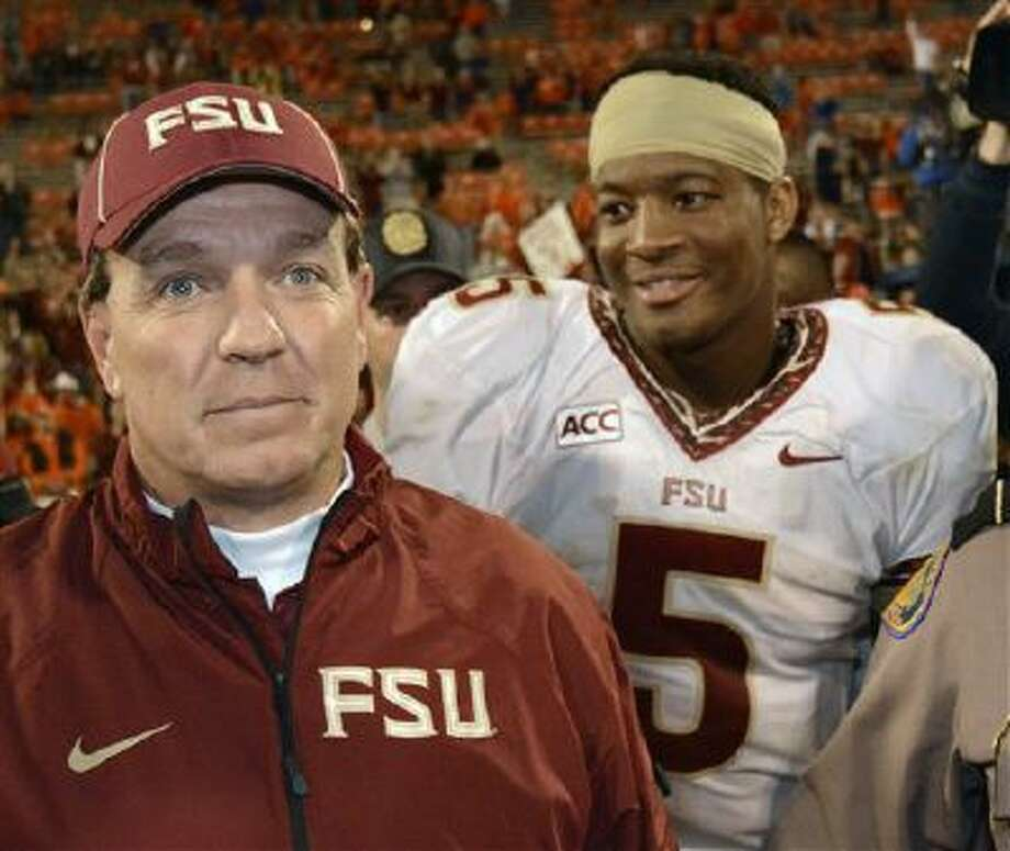 Florida State coach Jimbo Fisher was thrilled with the way Jameis Winston ran the two-minute drill to win the BCS national championship. That wasn't the case leading up to the big game. Photo: AP / FR159523 AP