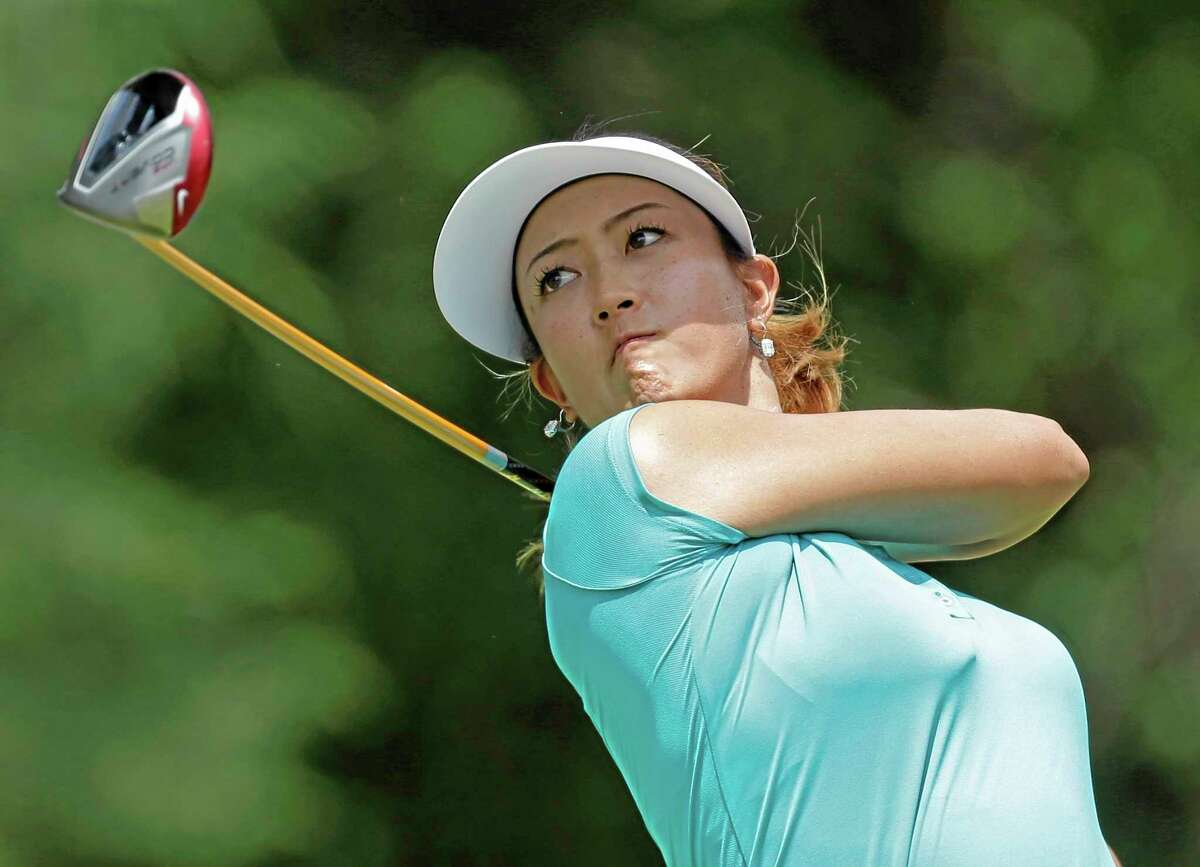 Michelle Wie watches her tee shot on the seventh hole during the final round of the U.S. Women's Open on Sunday in Pinehurst, N.C.