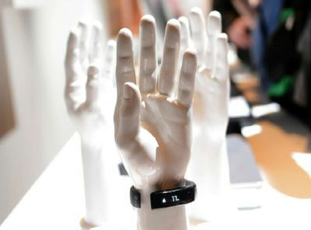 The LG Lifeband Touch is diplayed during a media presentation at the consumer electronics show CES in Las Vegas, USA, 06 January 2014.