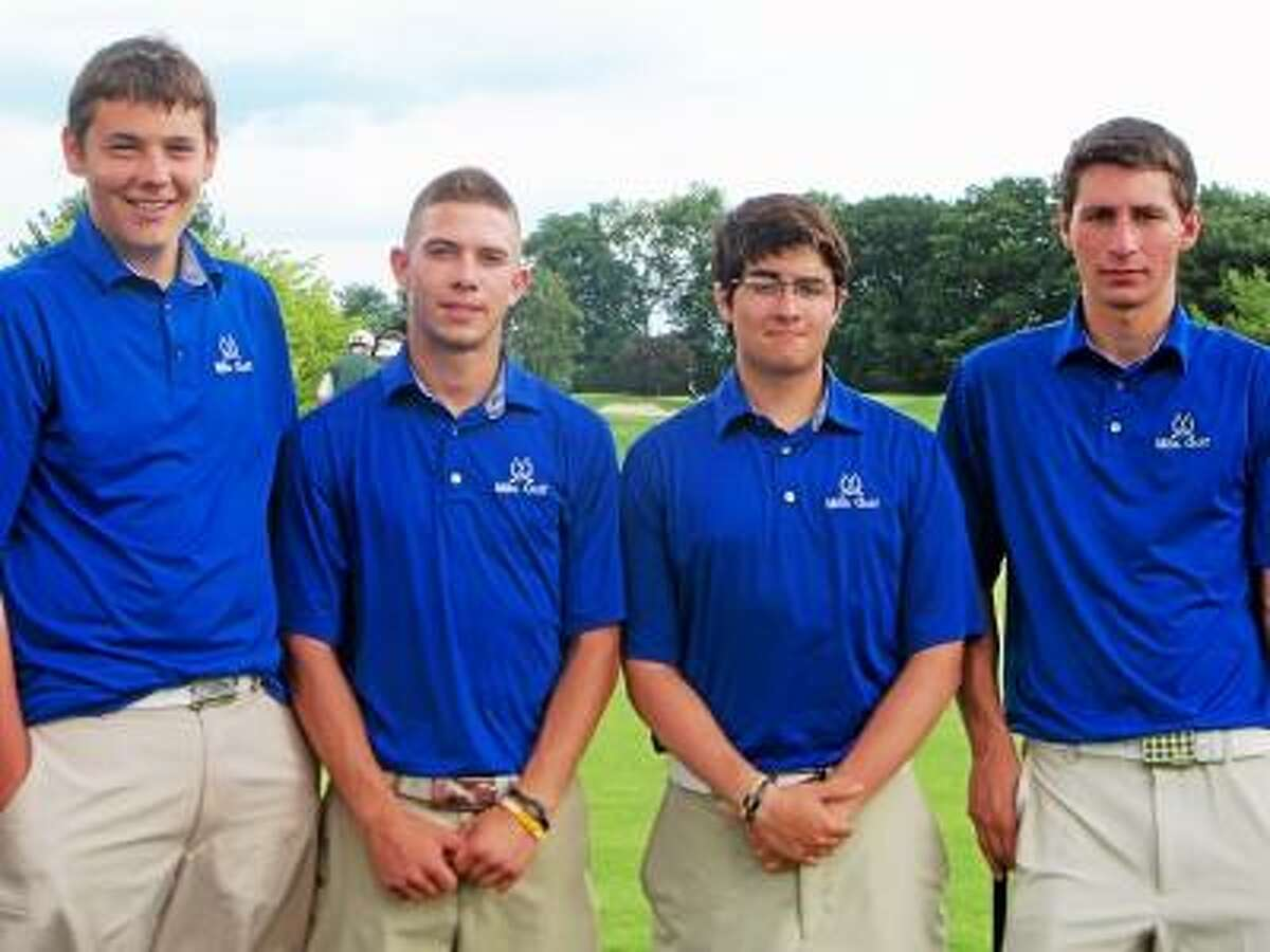 Photo by Peter Wallace Lewis Mills, left to right, Chris Greatorex, Andrew Boucher, Andrew Cuatto.