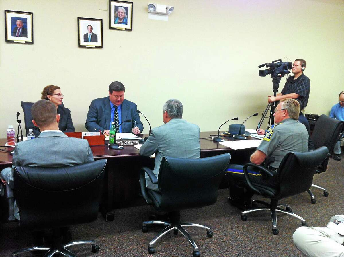 Freedom of Information hearing at the FOI Commission offices in Hartford on July 30.