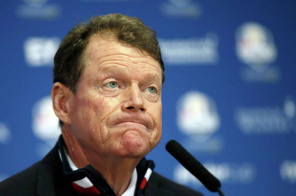 United States team captain Tom Watson attends a Sept. 28 press conference after Europe won the Ryder Cup at Gleneagles, Scotland.