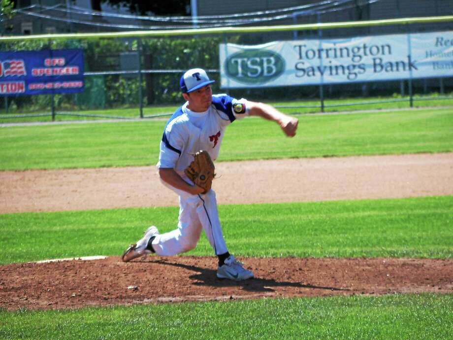 Torrington's Shane Bierfeldt went all seven innings for the P38s, allowing just one earned run on nine hits, five strikeouts and no walks. Photo: Peter Wallace - Register Citizen