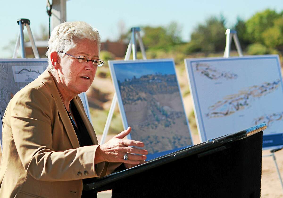Environmental Protection Agency Administrator Gina McCarthy is pictured speaking in Corrales, N.M. on Sept. 15, 2014.
