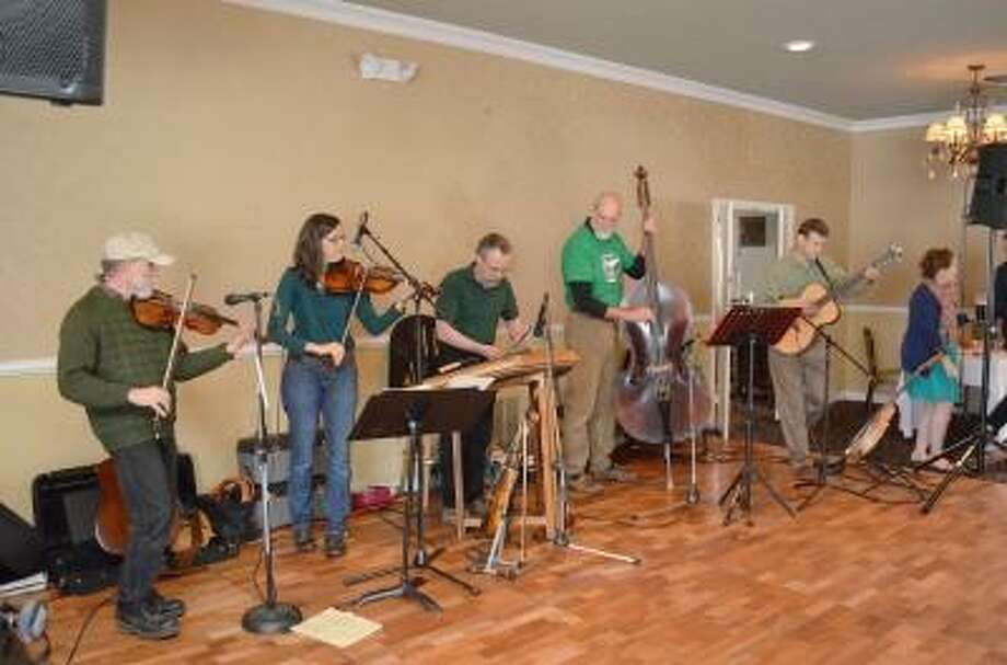 """Kate Hartman/Register Citizen. Musicians played Irish music for listeners at the """"Celebration of St. Patrick's Day"""" Fundraiser."""